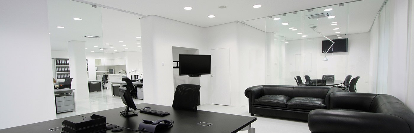 passive lighting office with led downlights