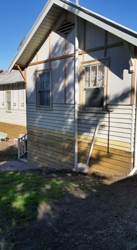Releveled and raised building in Bendigo