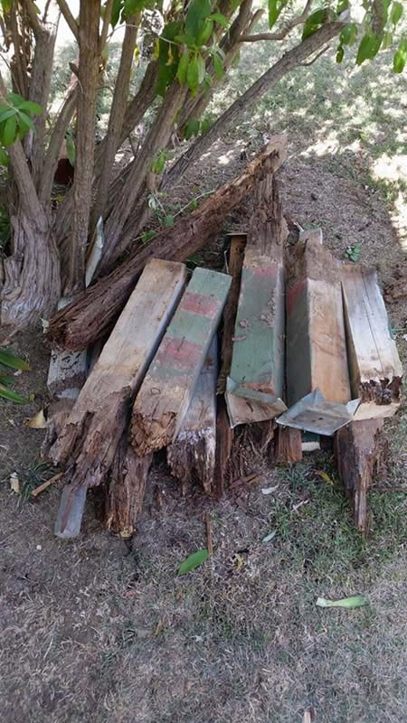 Large pile of lumber