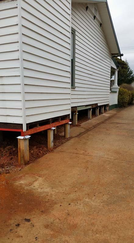 foundation under house raised by down under restumping