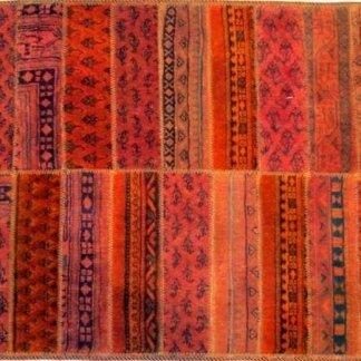 tappeto annodato, tappeto patchwork,