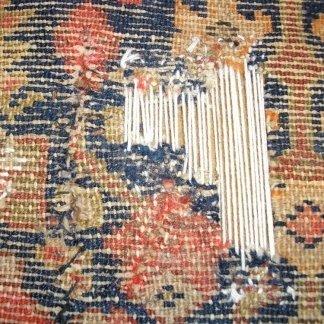 ricostruzione telaio tappeto, riparazione tappeti udine, tappeto antico udine