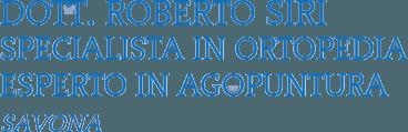 ROBERTO SIRI MEDICO CHIRURGO ORTOPEDICO - LOGO