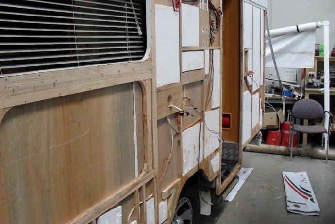 care a van inside of caravan