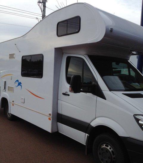 care a van roof damage of caravan repaired