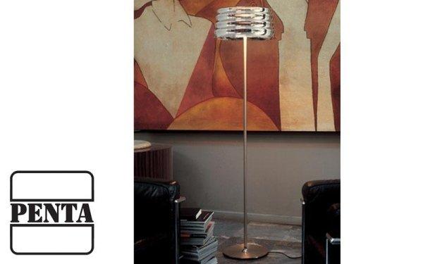 Lampada da terra con diffusore esterno in vetro soffiato