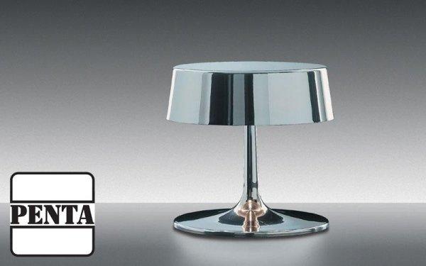 Lampada da tavolo con struttura in metallo tornito in lastra