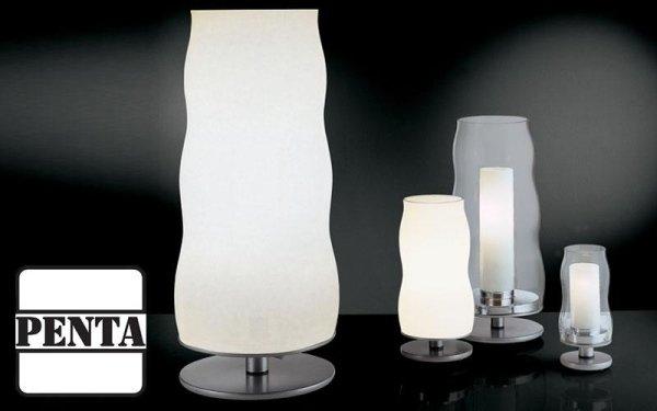 Lampada con diffusore in vetro soffiato