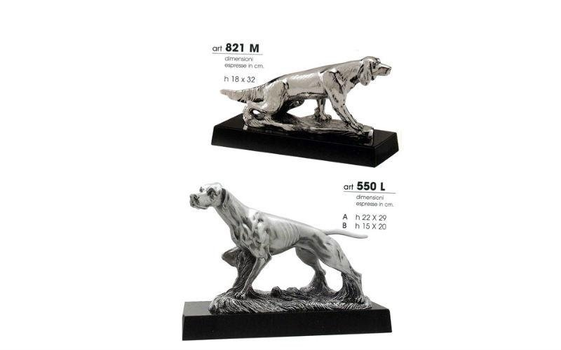 Trofei cani in argento