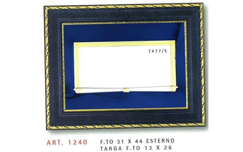 targa blu e dorata