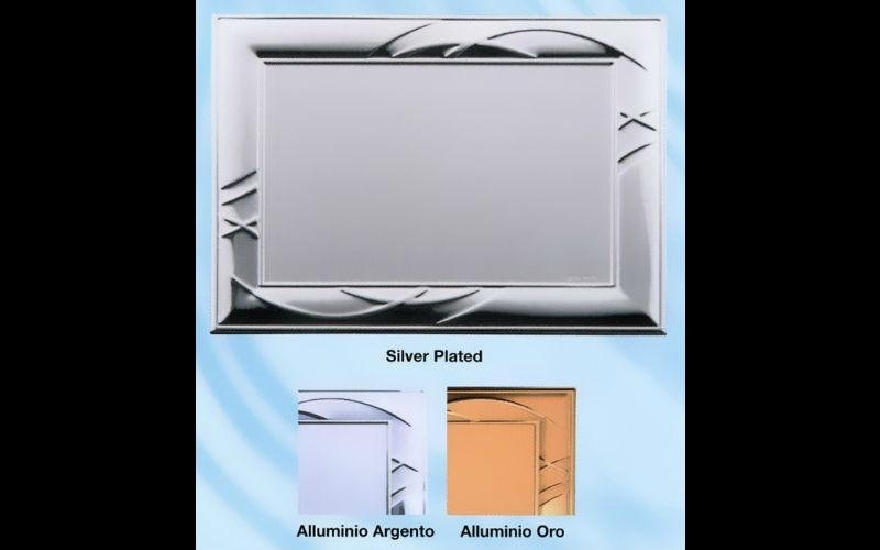 targa alluminio argento