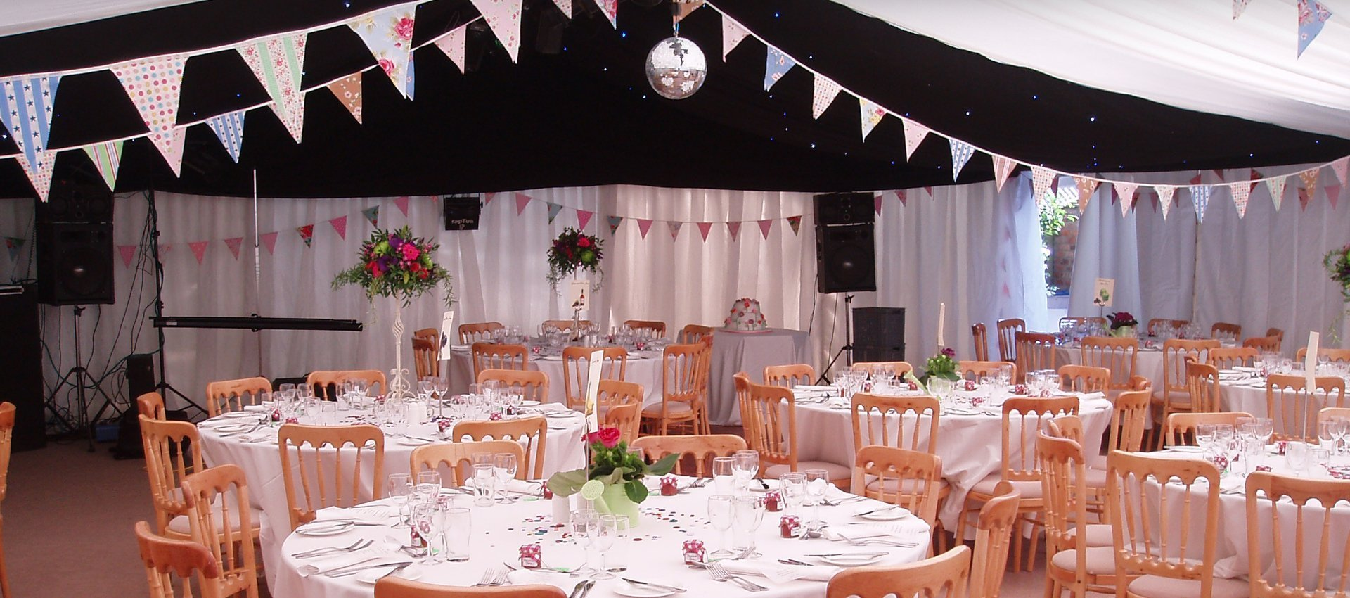 Marquee hire for wedding