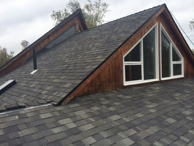 Beautiful roof built by our roofing company in Eagle River, AK