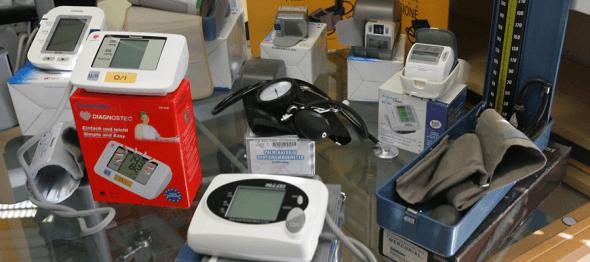 Il negozio ha una ampia gamma di prodotti elettromedicali come misuratori per la pressione arteriosa, elettrostimolatori, magnetoterapia..