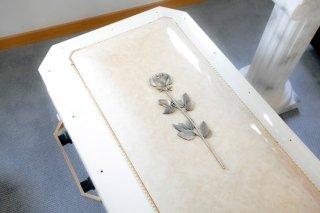 cofano funebre legno bianco