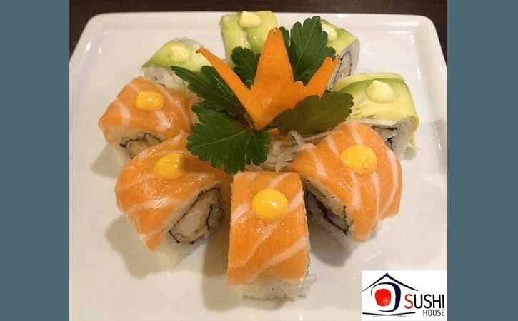 roll di salmone