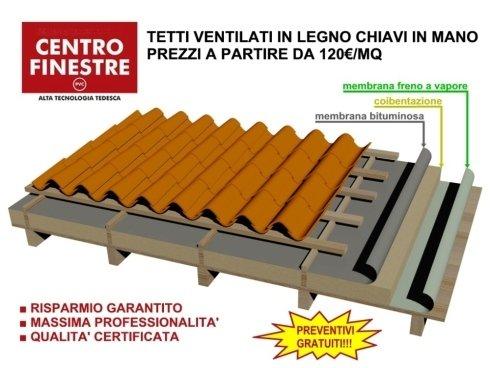 tetti in legno ventilati - realizzazione coperture in legno