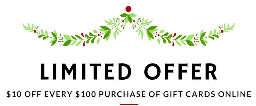Jimbo Holiday Offer - 10% off gift cards