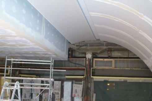 Lavorazione soffitti ad arco