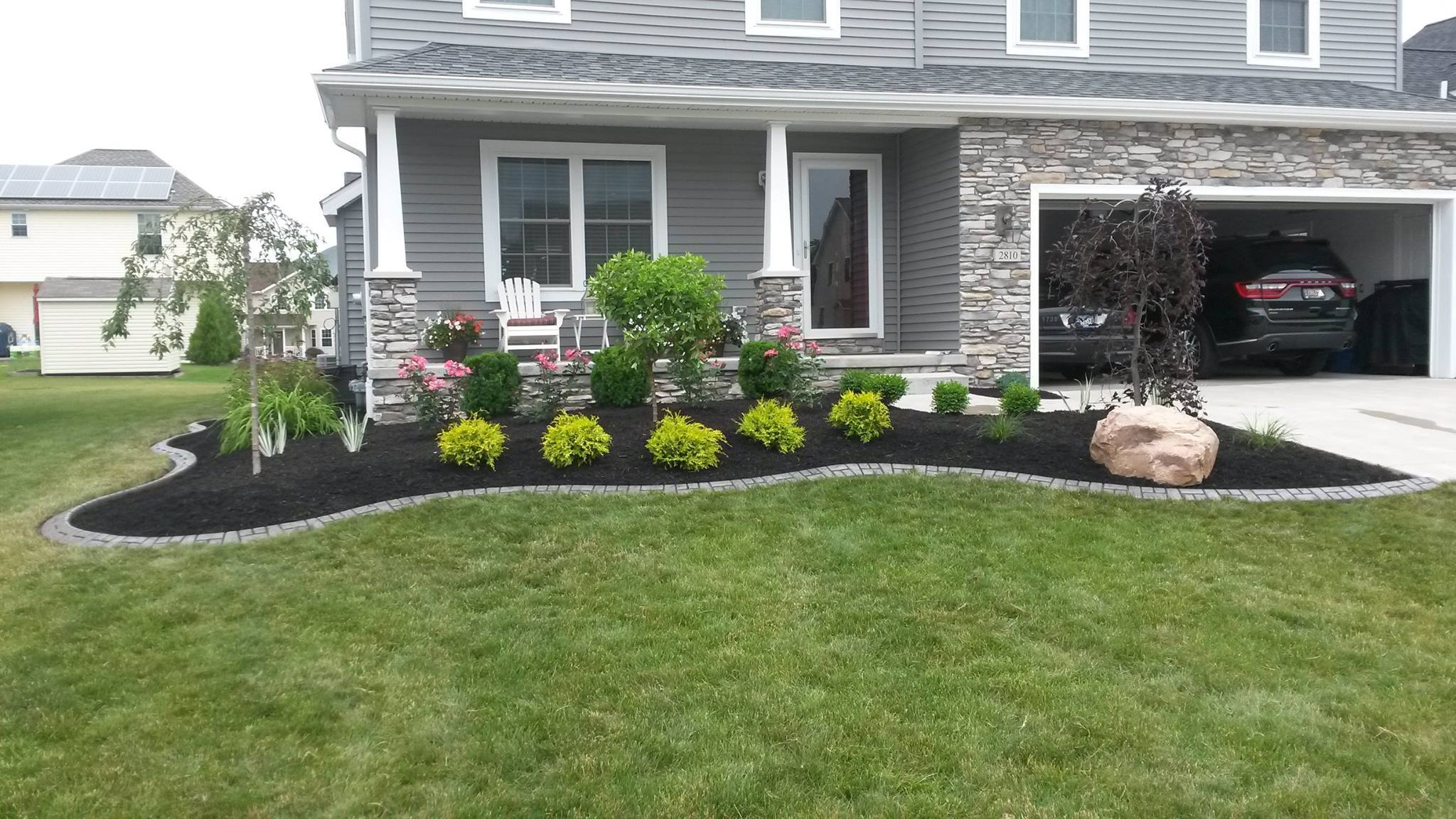 Landscape, Design, Curbing, Kurb King, Shrub, Installation