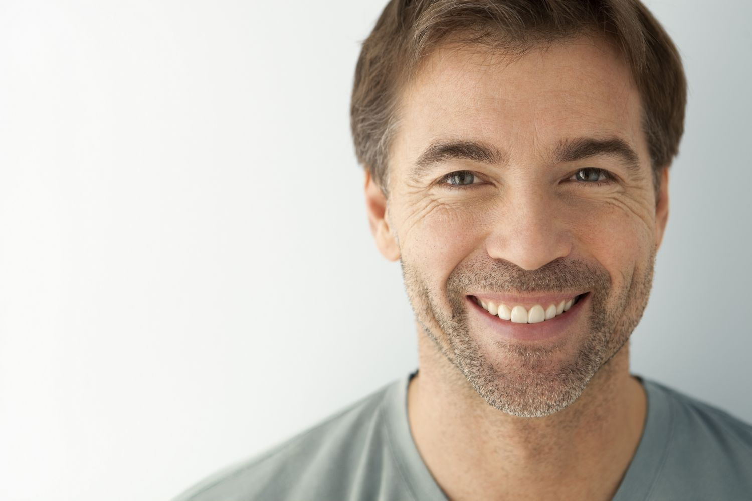 Smiling man with an attractive smile