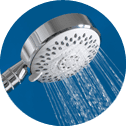 silver shower head