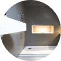 grey tiled wet room