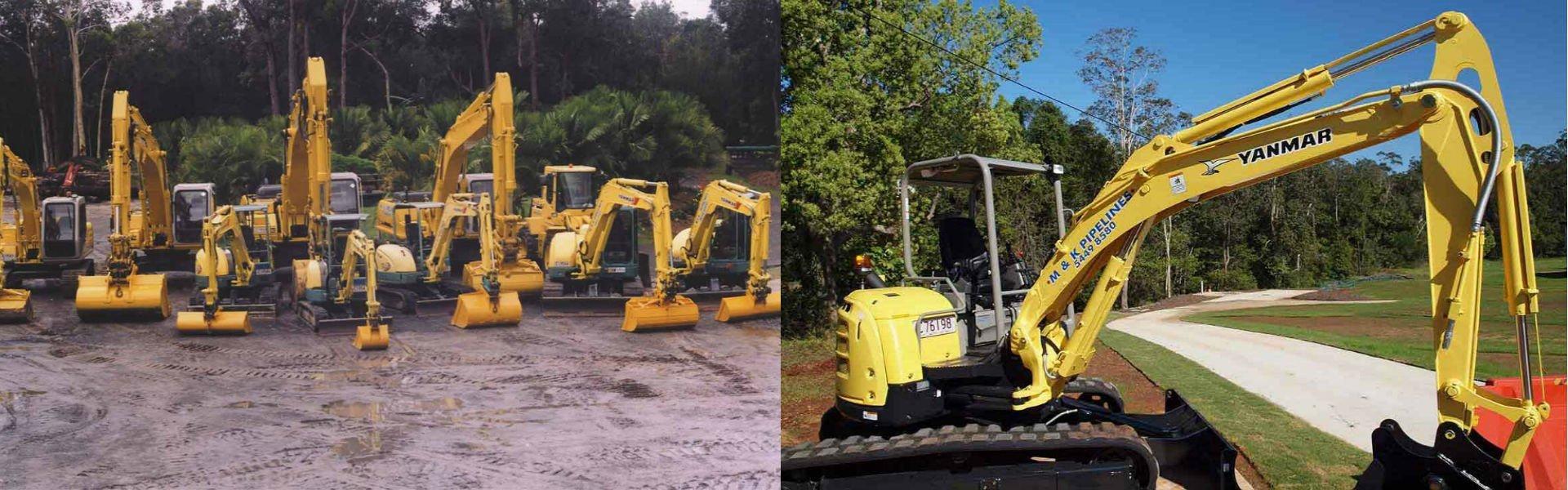 m and k pipelines pty ltd excavator new