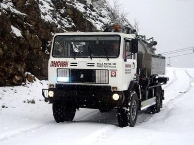 mezzi per spurghi in condizioni nevose