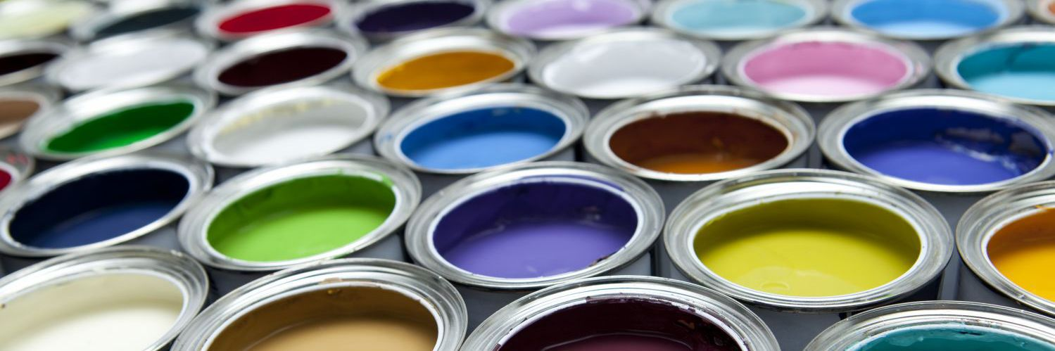 Brushes and swatches used by painting contractors in Timaru