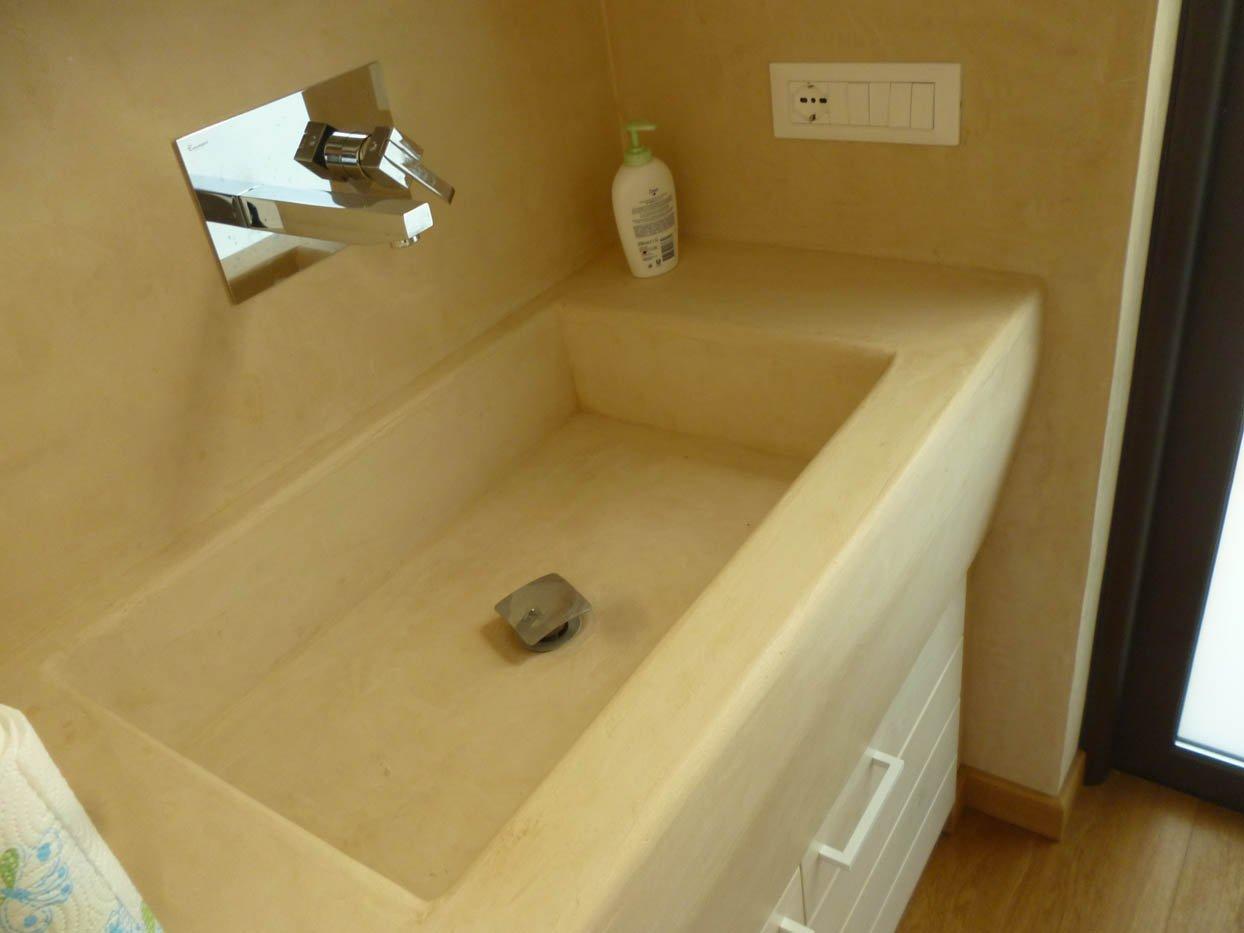 Mobile Lavabo Resina N55 Atlantic : Lavandino in resina mobile bagno con lavabo marmo