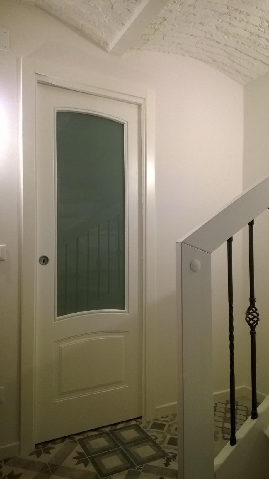 porta interna legno massello bianca