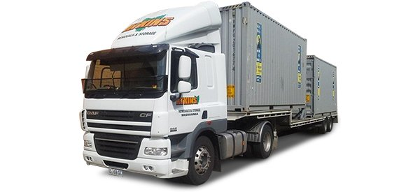 atkins removals and storage service truck