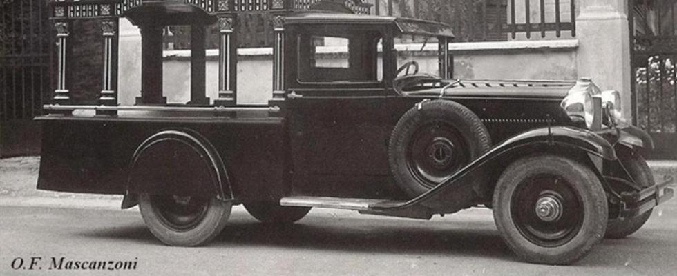 un antico carro funebre