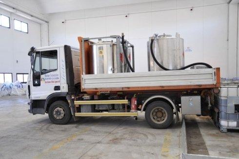 automezzo per raccolta liquidi