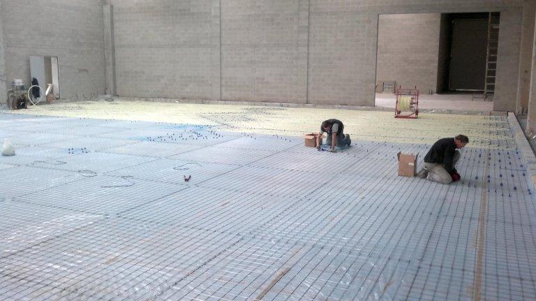 Riscaldamento a pavimento industriale