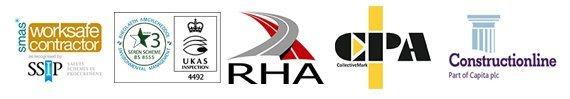 RHA CPA constructionline logos