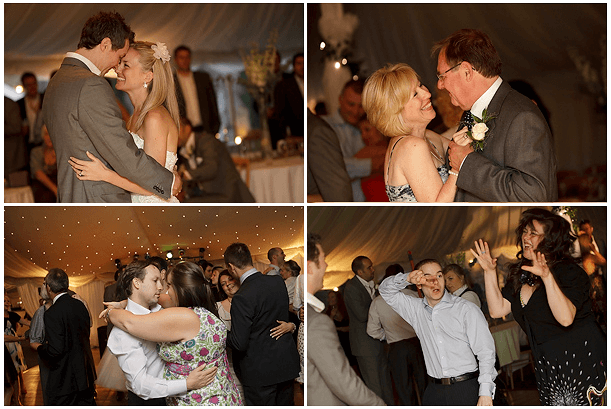 collage of wedding images