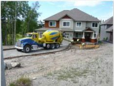 Construction project starts with excavation and grading