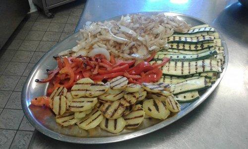 vassoio di verdure grigliate