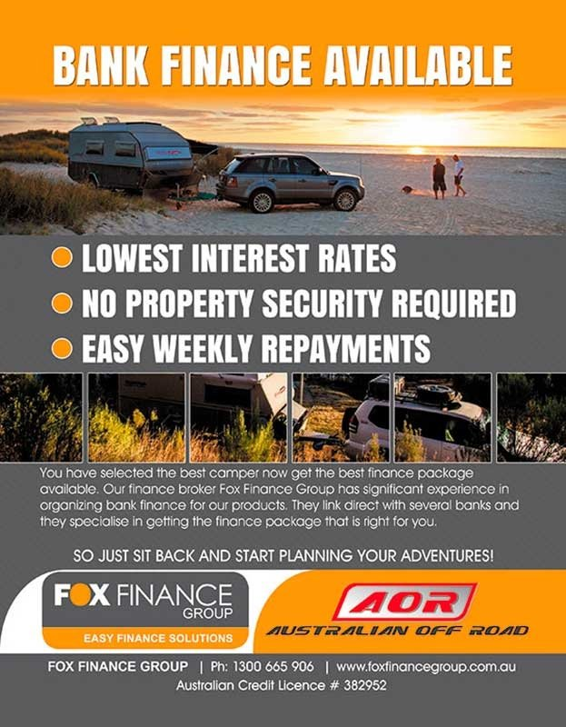 Fox Finance Group Have Partnered With Australian Offroad Campers