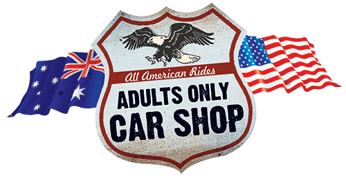 adults only car shop logo