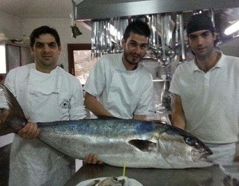 Menu based on locally caught fresh fish