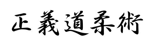 tadashii do ju jitsu kanji