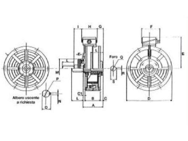 disegno tecnico freno dinamico D.G.R. Costruzioni