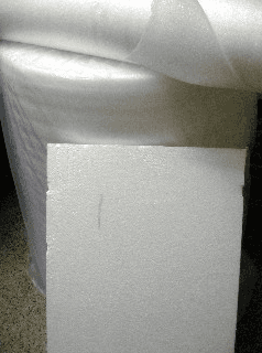 Polietilene espanso e fogli polistirolo
