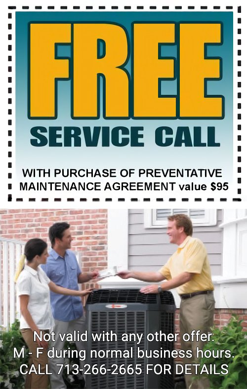 Free Service Call Houston, TX