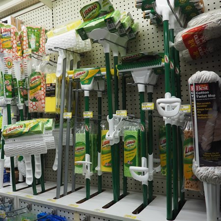 Housewares, mops, brooms, sponges and more