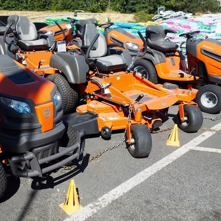 Lawn and garden supplies and lawn mowing equipment