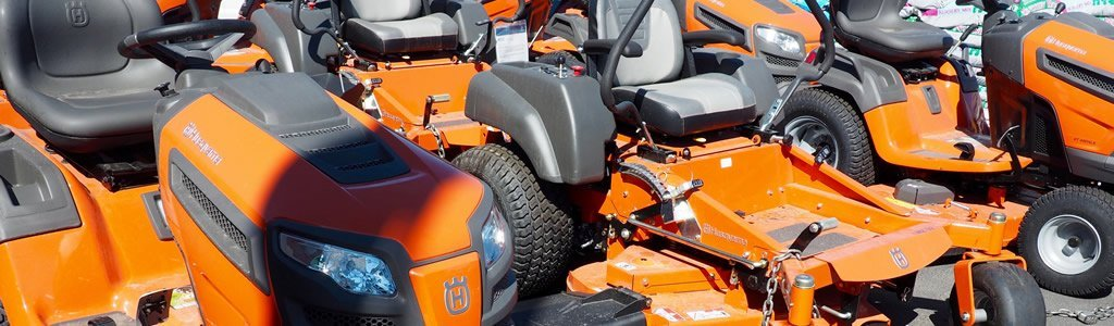 Riding lawn mowers and lawn equipment